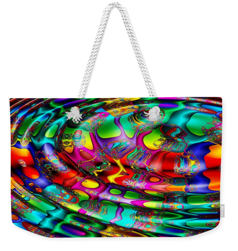 Multicolor Weekender Tote Bag featuring the digital art April's Fool by Robert Orinski