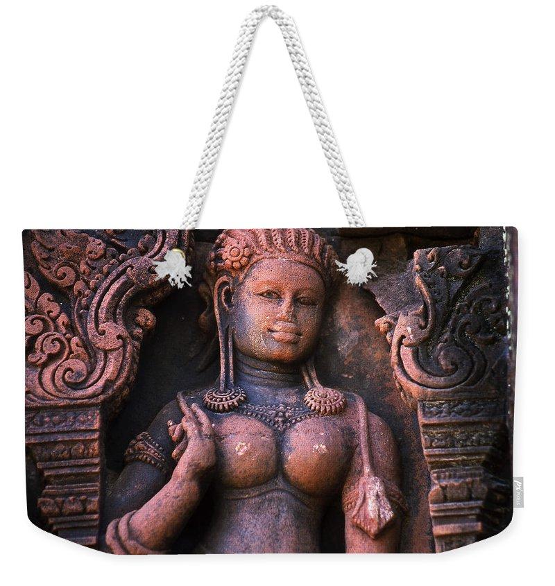 Apsara Weekender Tote Bag featuring the photograph Apsara by Patrick Klauss