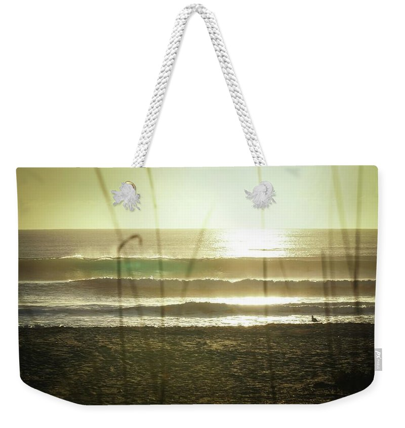 Beach Weekender Tote Bag featuring the photograph Aqua by Christopher Bednarly