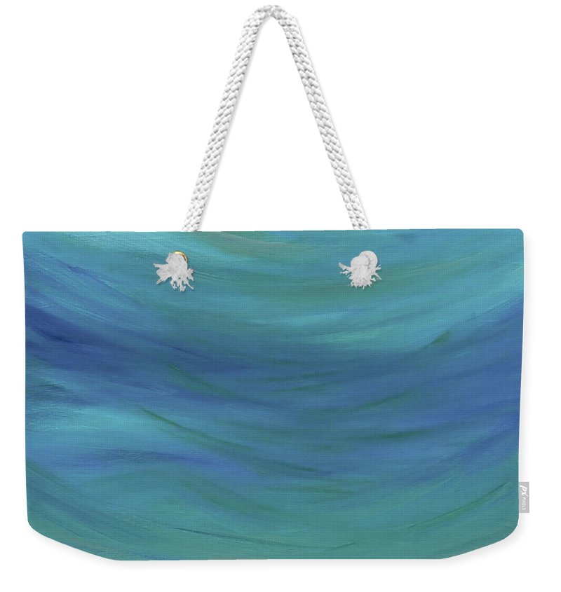 Abstract Weekender Tote Bag featuring the painting Aquapauge by Go Inspire Beauty