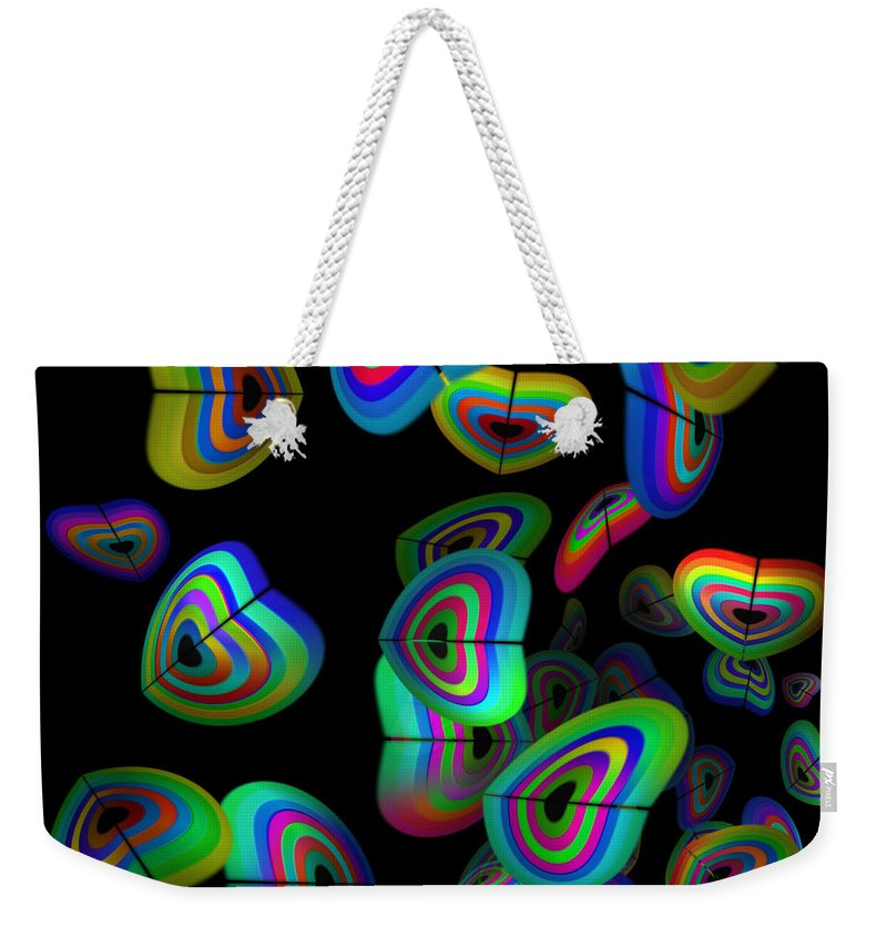 Tropical Fish Weekender Tote Bag featuring the painting Aquarium by Charles Stuart