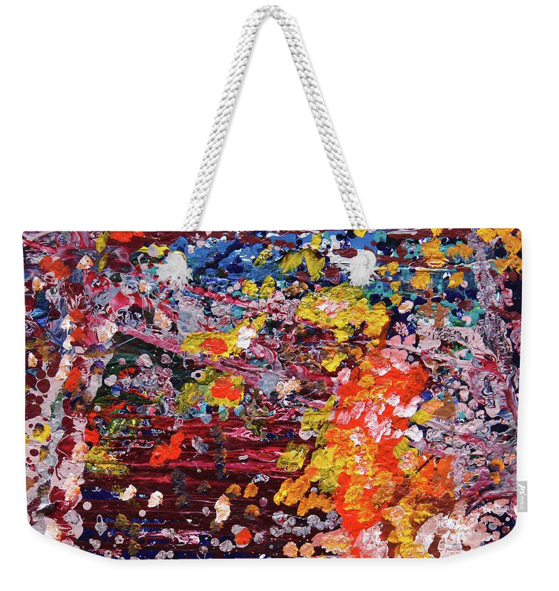 Fusionart Weekender Tote Bag featuring the painting Aquarium by Ralph White