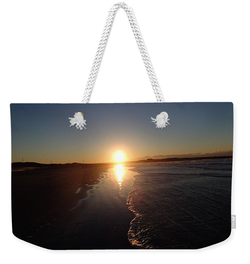 Sun Weekender Tote Bag featuring the photograph Aquidneck Island Sunrise 3 by Robert Nickologianis
