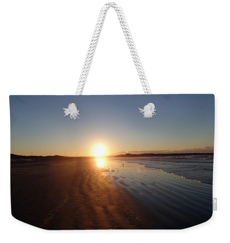 Sun Weekender Tote Bag featuring the photograph Aquidneck Sunrise 4 by Robert Nickologianis