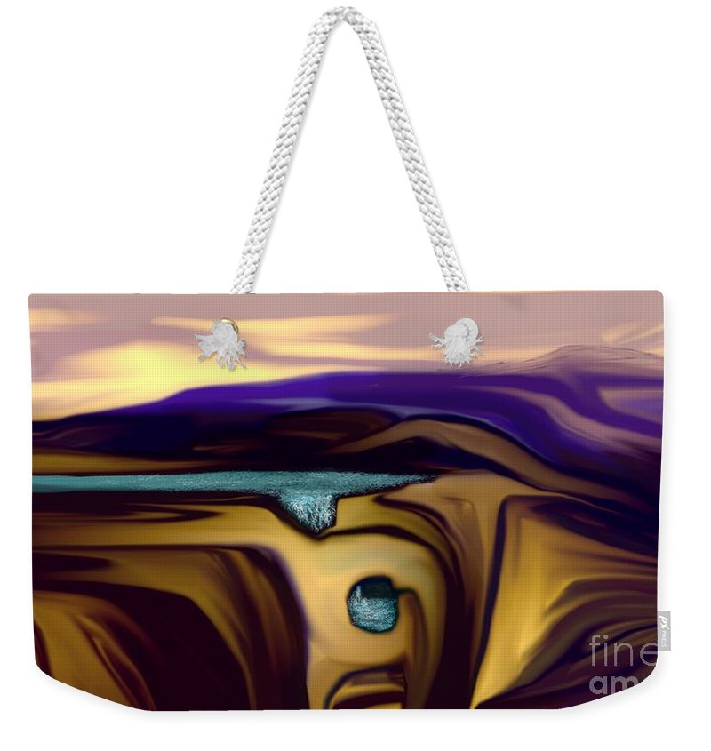 Abstract Weekender Tote Bag featuring the digital art Aquifer by David Lane