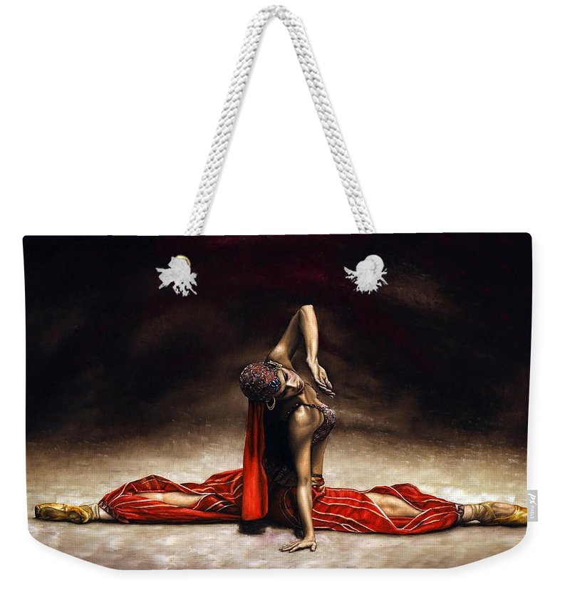 Ballerina Weekender Tote Bag featuring the painting Arabian Coffee by Richard Young