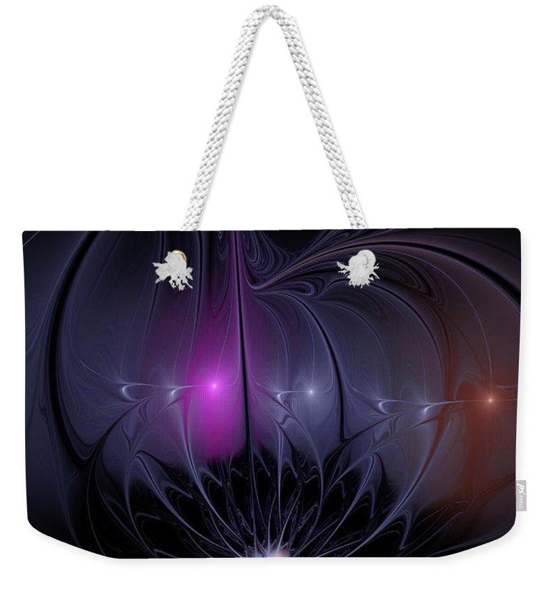 Flame Fractal Weekender Tote Bag featuring the digital art Arabian Nights by Ann Garrett