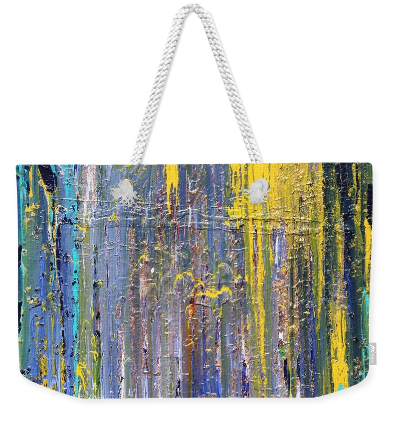Fusionart Weekender Tote Bag featuring the painting Arachnid by Ralph White