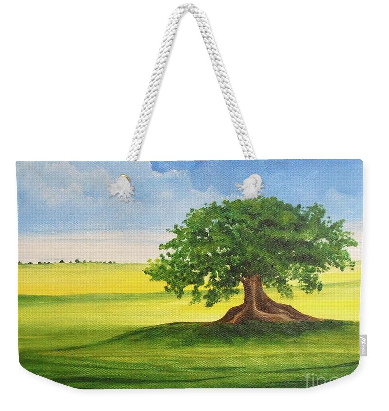 Alicia Maury Prints Weekender Tote Bag featuring the painting Arbol De Ceiba by Alicia Maury