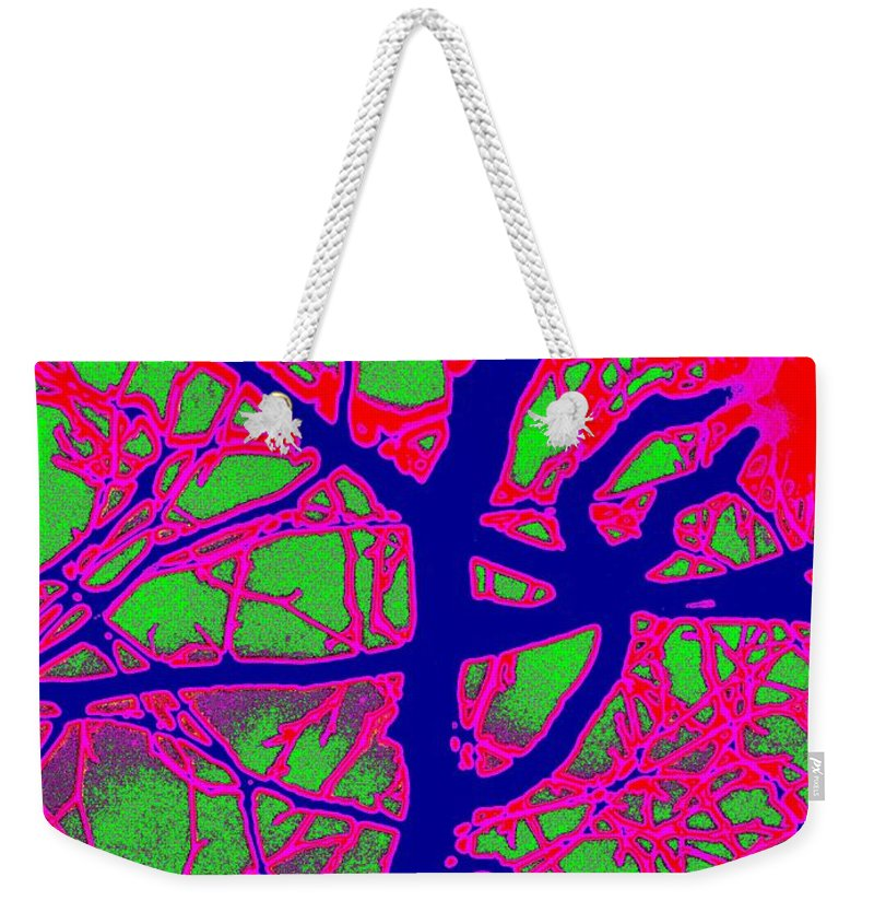 Abstract Weekender Tote Bag featuring the digital art Arbor Mist 2 by Tim Allen