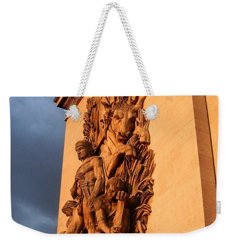 Europe Weekender Tote Bag featuring the photograph Arc De Triomphe by Juergen Weiss