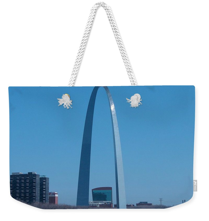 St Louis Weekender Tote Bag featuring the photograph Arch With Lumiere by J R Seymour