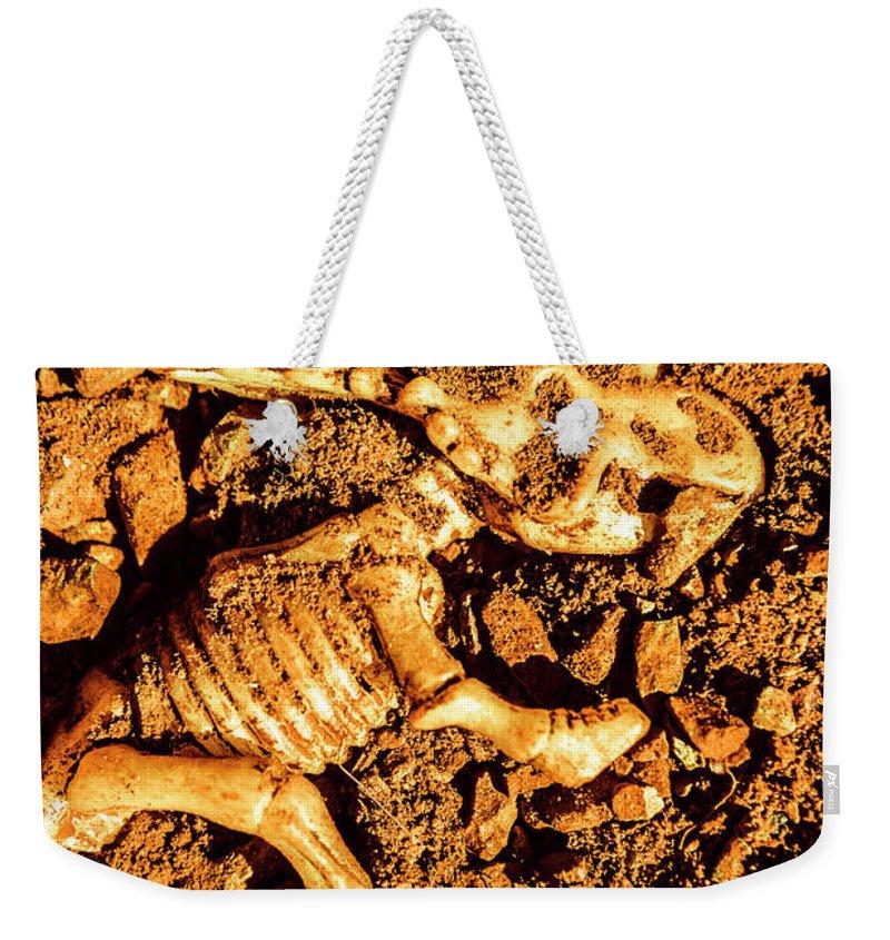 Excavation Weekender Tote Bags