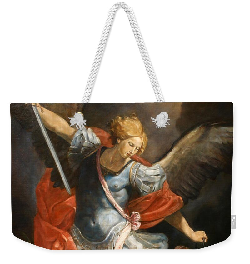 Realism Weekender Tote Bag featuring the painting Archangel Michael by Darko Topalski