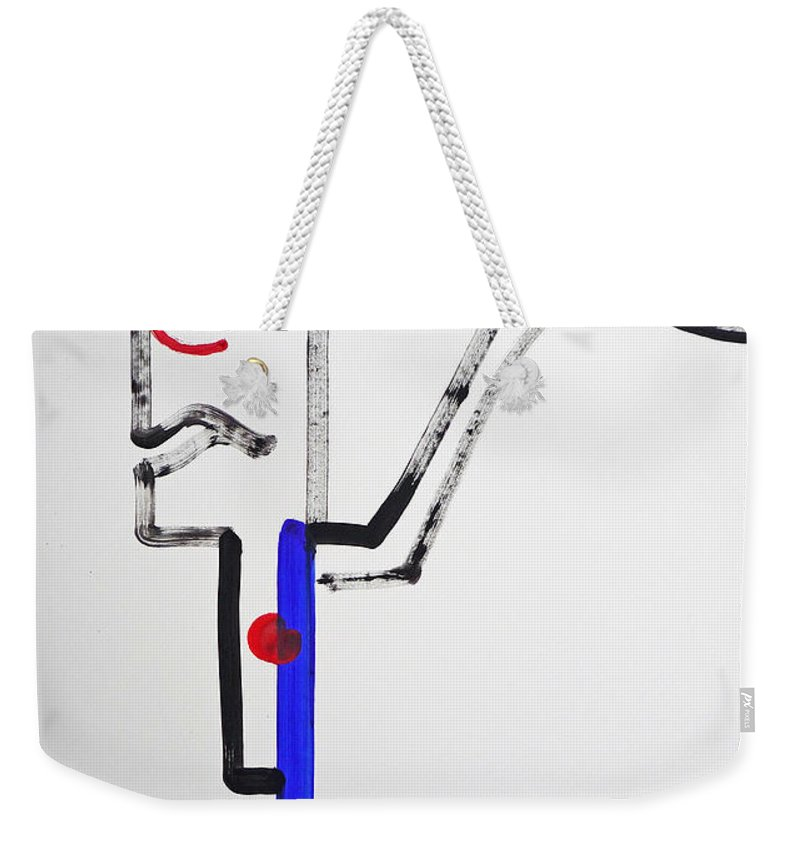 Archer Weekender Tote Bag featuring the painting Archer by Charles Stuart