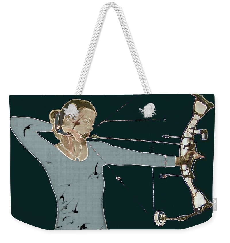 Archery Weekender Tote Bag featuring the photograph Archer by Sara Stevenson