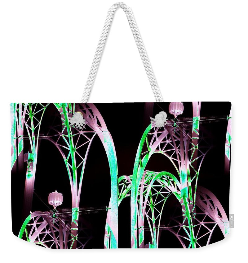 Seattle Weekender Tote Bag featuring the digital art Arches 3 by Tim Allen