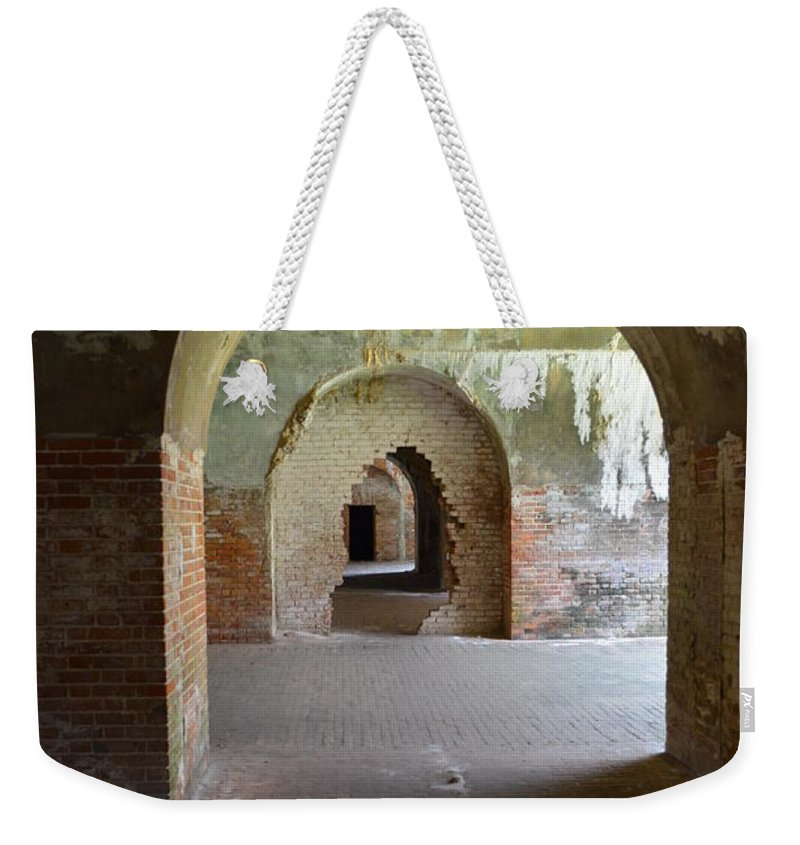 Fort Weekender Tote Bag featuring the photograph Arches by Erica Degni