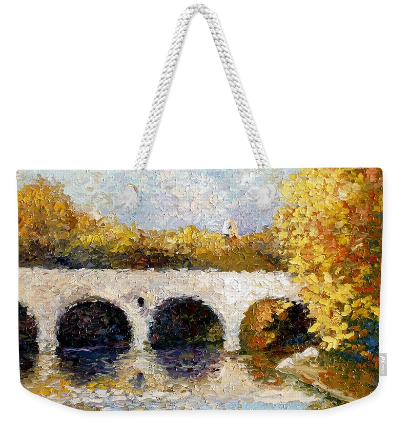 Landscape Weekender Tote Bag featuring the painting Arches by Lewis Bowman
