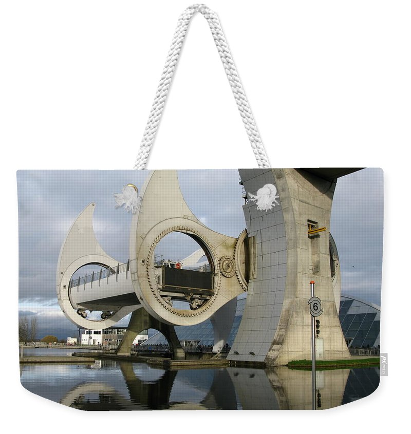 Scotland Weekender Tote Bag featuring the photograph Archimedes by Maria Joy