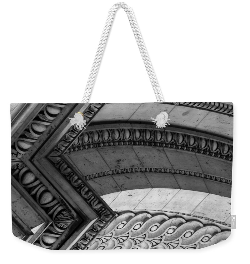 Architecture Weekender Tote Bag featuring the photograph Architectural Details Of The Arc by Donna Corless