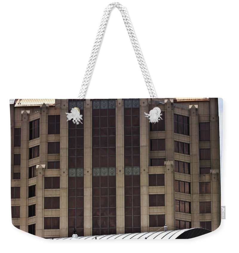 Architecture Weekender Tote Bag featuring the photograph Architectural Differences Roanoke Virginia by Teresa Mucha