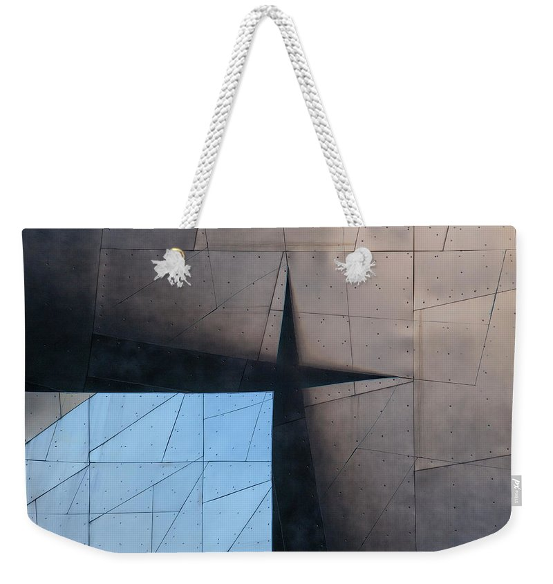 Architecture Weekender Tote Bag featuring the photograph Architectural Reflections 4619a by Carol Leigh