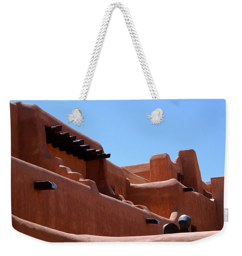 Photography Weekender Tote Bag featuring the photograph Architecture In Santa Fe by Susanne Van Hulst