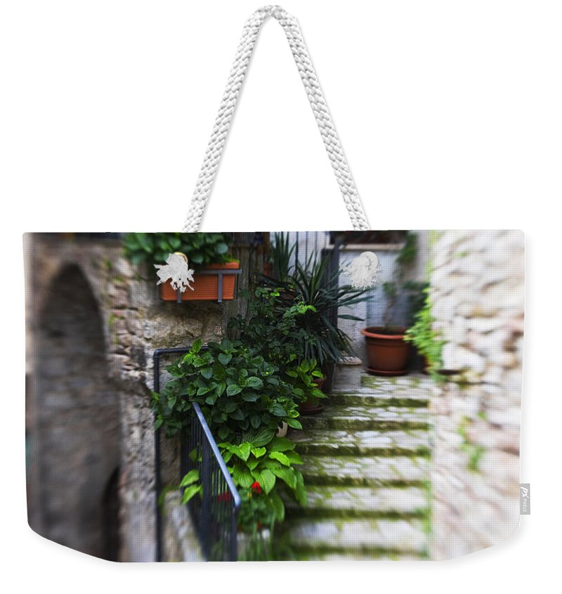 Italy Weekender Tote Bag featuring the photograph Archway And Stairs by Marilyn Hunt