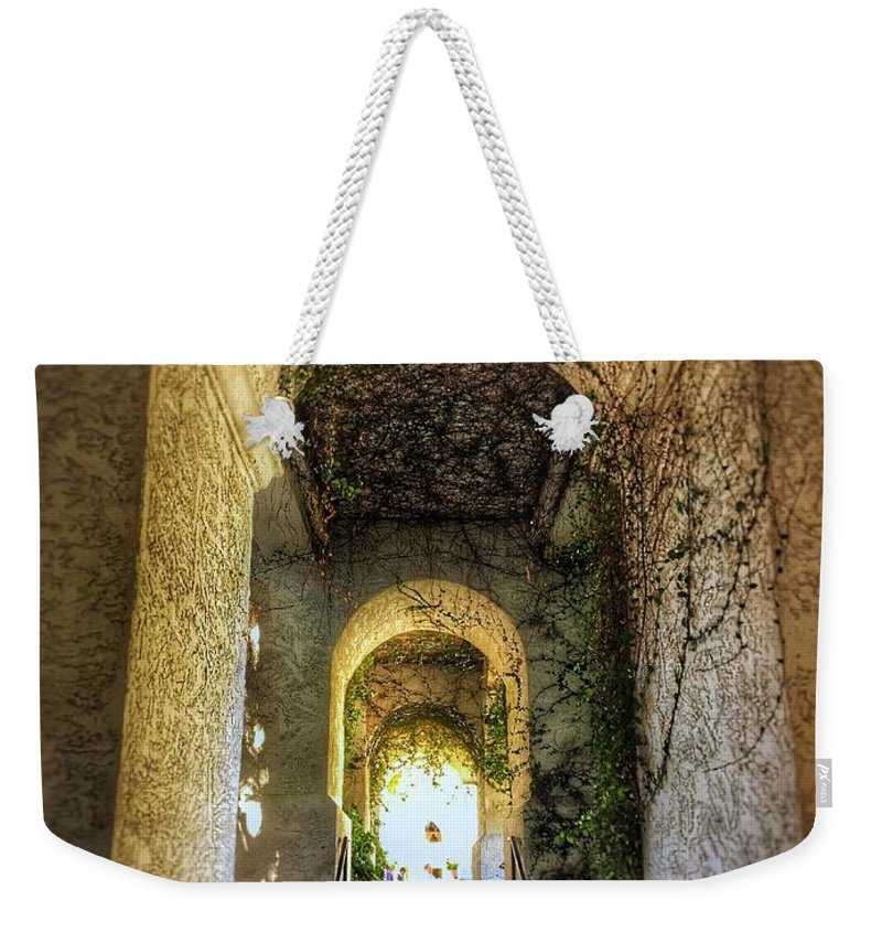 Vines Arch Archway Hotel Resort Spa Arizona Phoenix Tempe Grand Weekender Tote Bag featuring the photograph Archway by Brandon Stevens