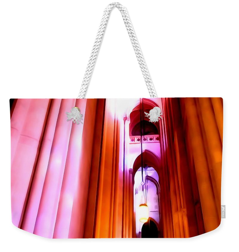Digital Weekender Tote Bag featuring the photograph Archways Of St.john The Divine by Ed Weidman