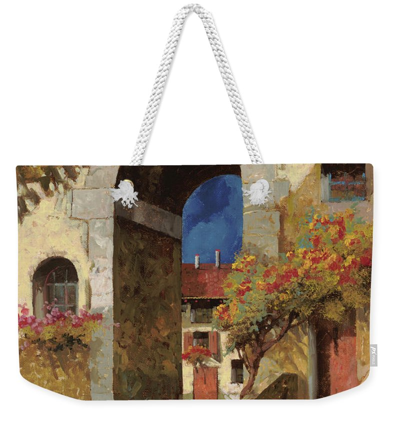 Guido Weekender Tote Bag featuring the painting Arco Al Buio by Guido Borelli