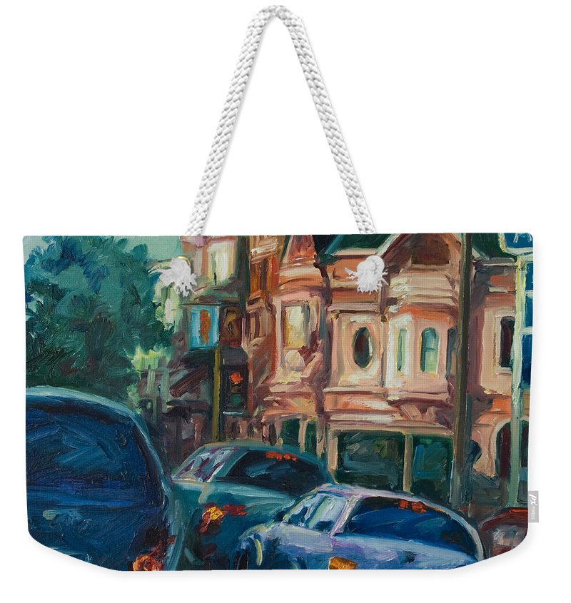 Trees Weekender Tote Bag featuring the painting Arco by Rick Nederlof