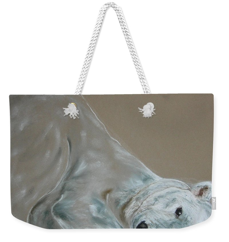 Polar Bear Weekender Tote Bag featuring the drawing Arctic Frolic by Cori Solomon
