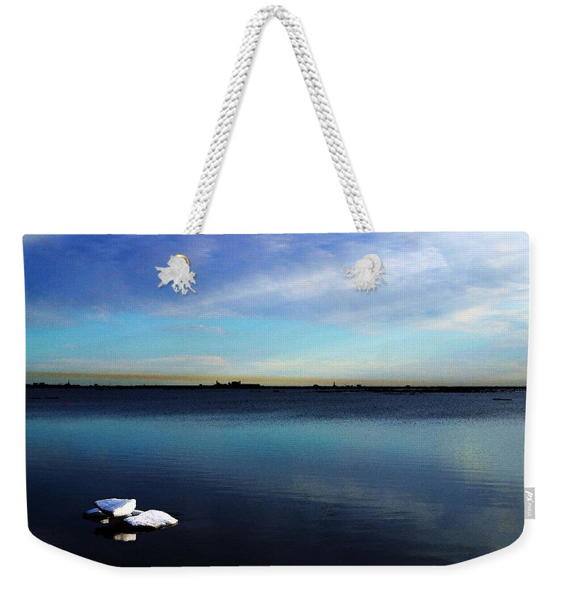 Digital Art Weekender Tote Bag featuring the digital art Arctic Ice by Anthony Jones