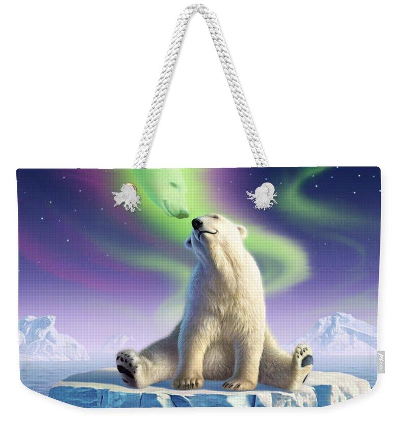 Arctic Weekender Tote Bags