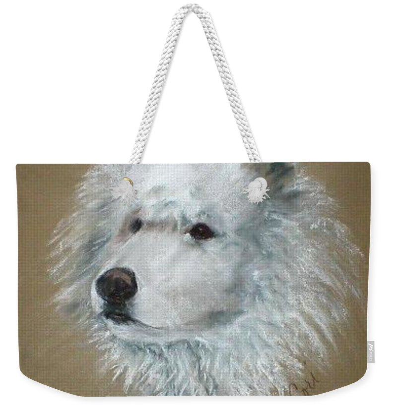 Pastel Weekender Tote Bag featuring the drawing Arctic Majestry by Cori Solomon