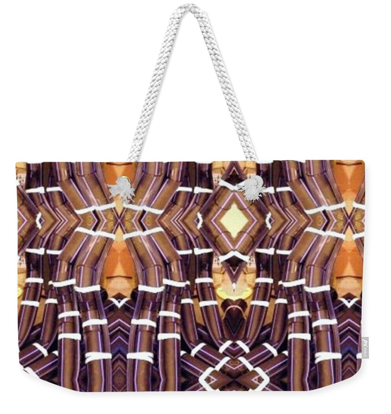 Abstract Weekender Tote Bag featuring the digital art Arctic Pipe by Ron Bissett
