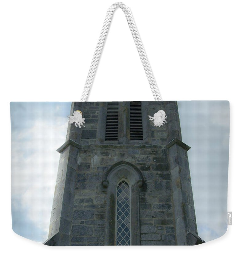 Irish Weekender Tote Bag featuring the photograph Ardcroney Church County Clare Ireland by Teresa Mucha