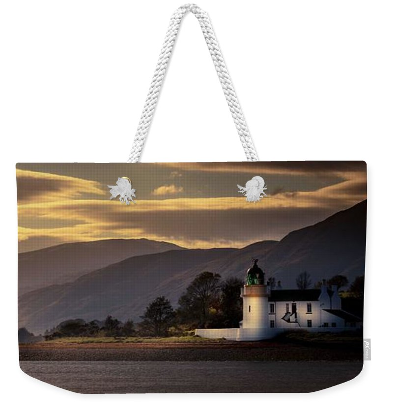 Lighthouse Scotland Seaview Scottish Ardgour Sunset Weekender Tote Bag featuring the photograph Ardgour Light House by Paul Graham
