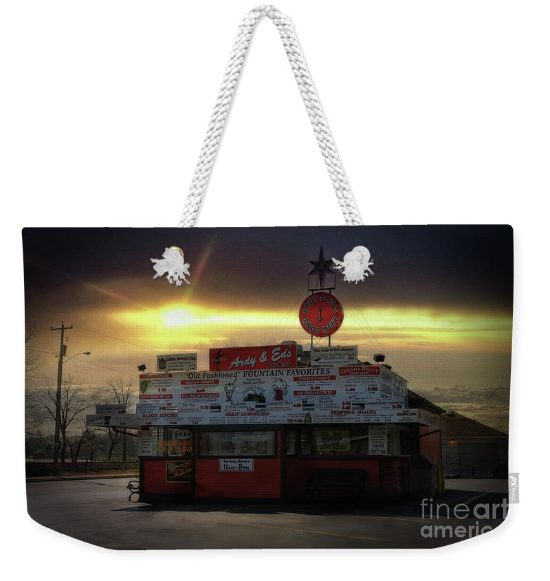 Ardy Weekender Tote Bag featuring the photograph Ardy And Eds by Joel Witmeyer