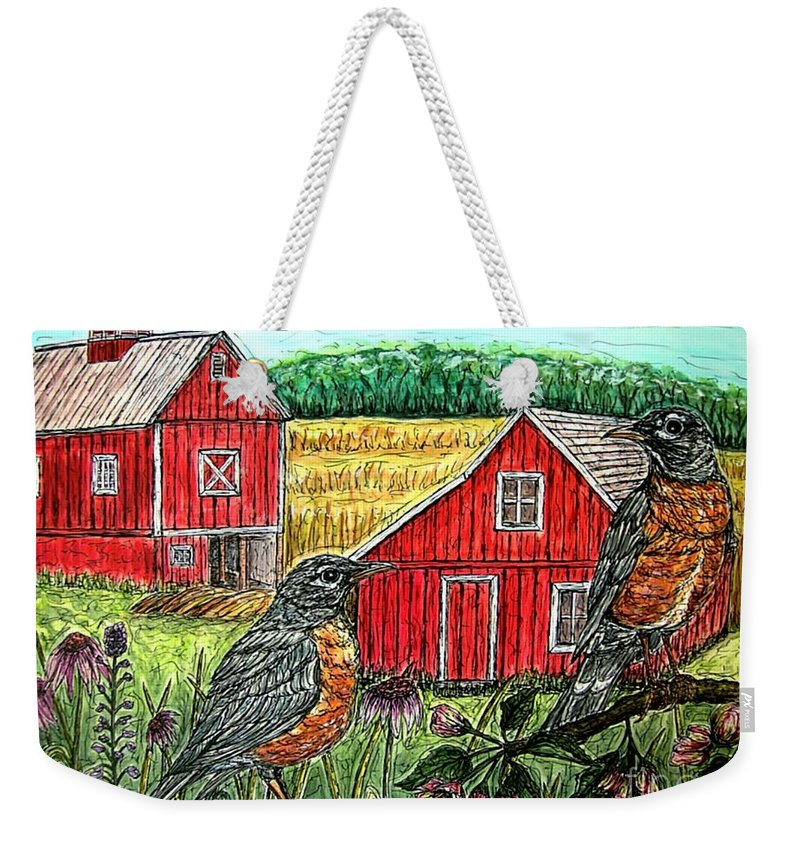 Landscape Weekender Tote Bag featuring the painting Are You Sure This Is The Way To St.paul? by Kim Jones