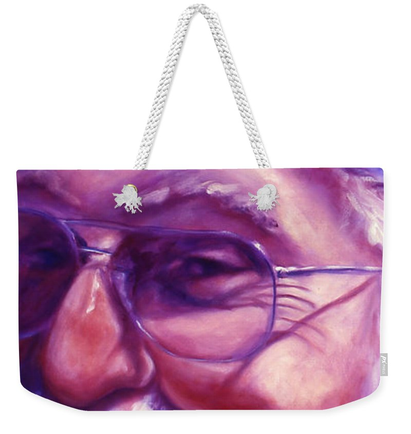 Portrait Weekender Tote Bag featuring the painting Are You Sure You Have Been Nice by Shannon Grissom
