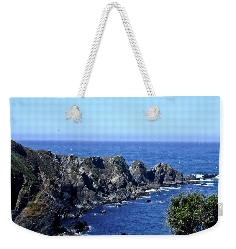 Arena Weekender Tote Bag featuring the photograph Arena Point California by Douglas Barnett