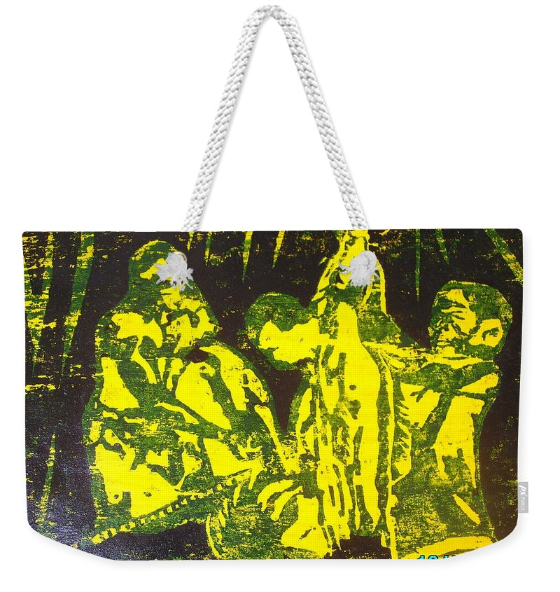 Festival Weekender Tote Bag featuring the mixed media Argungun Festival 2 by Olaoluwa Smith