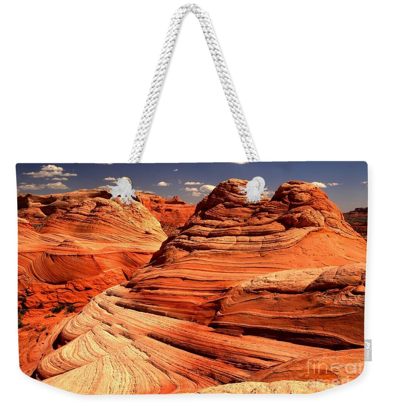 Coyote Buttes Weekender Tote Bag featuring the photograph Arizona Desert Landscape by Adam Jewell