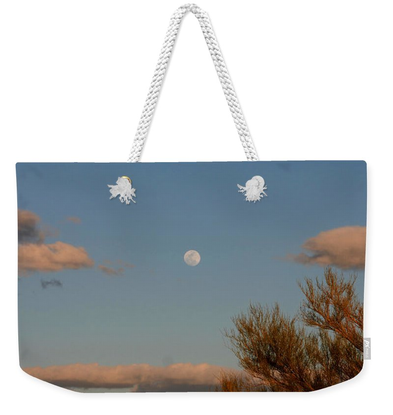 Arizona Weekender Tote Bag featuring the photograph Arizona Moon II by Susanne Van Hulst