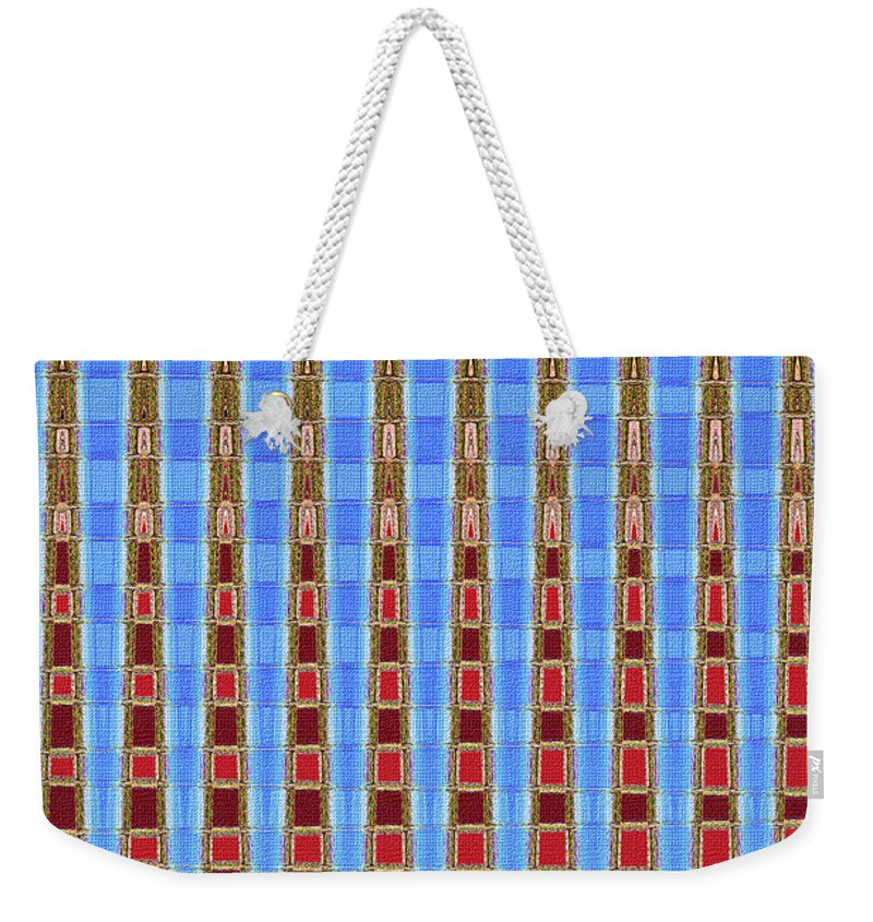 Arizona Saguaro Forest Abstract Weekender Tote Bag featuring the digital art Arizona Saguaro Forest Abstract by Tom Janca