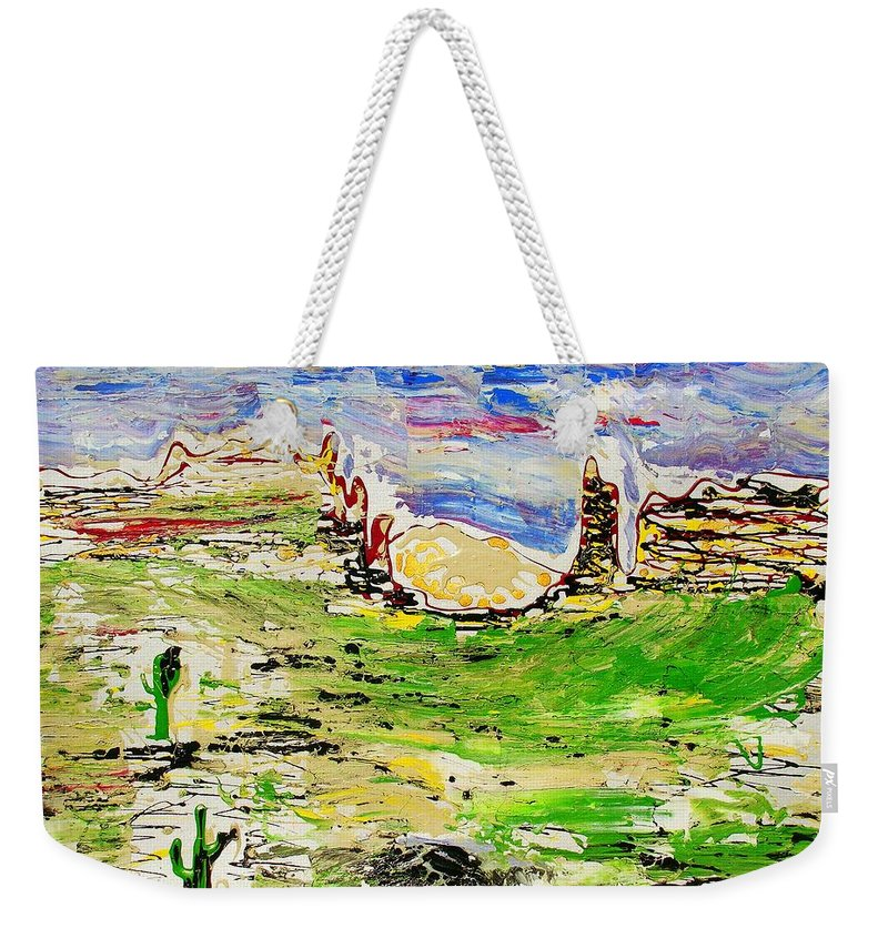 Impressionist Painting Weekender Tote Bag featuring the painting Arizona Skies by J R Seymour