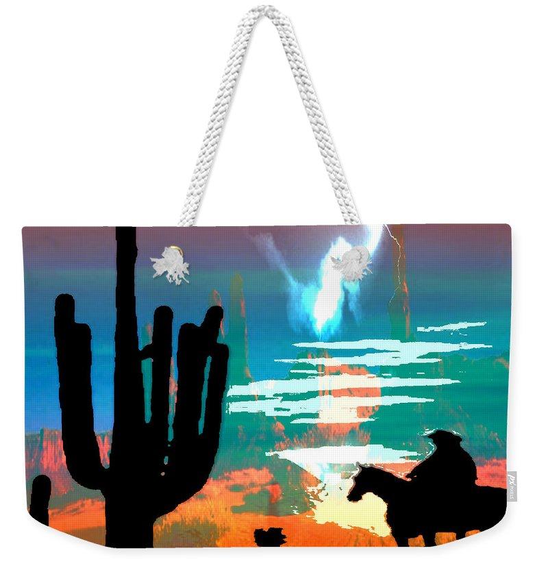 Arizona Weekender Tote Bag featuring the photograph Arizona Skies by Ken Walker